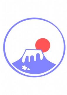 日本富士山图标