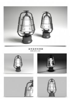 现代雾面煤油灯马灯