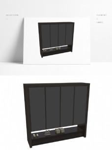 现代中式衣柜橱柜鞋柜整木定制