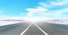 创意合成公路背景