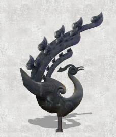 荆楚孔雀雕塑