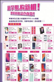 苹果华为三星小米魅族手机海报