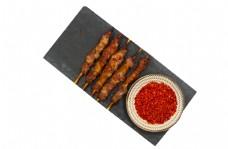辣椒羊肉串