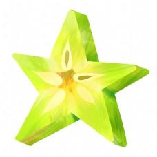 绿色五角星杨桃