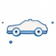 蓝色汽车图标