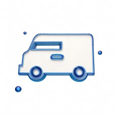 蓝色创意汽车图标