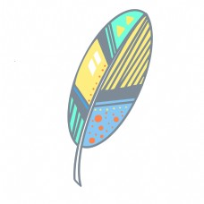 扇形图案羽毛