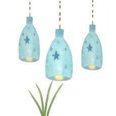 蓝色星星精致吊灯