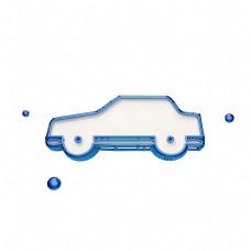 立体小汽车图标