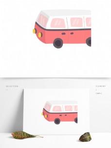 清新粉色汽车装饰元素