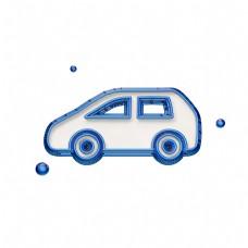 创意蓝色汽车图标