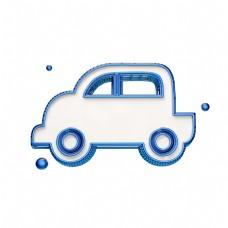 蓝色立体汽车图标