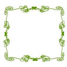 绿色精美欧式边框