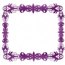 紫色欧式边框