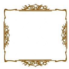 欧式边框棕色线条
