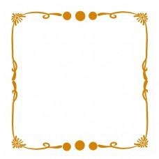 黄色花纹欧式边框
