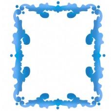 蓝色欧式边框