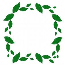 绿叶子边框