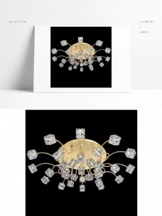 现代创意金色通用吊灯