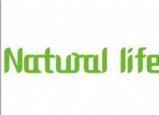 英文字体设计自然生活