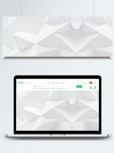 白色几何折纸背景素材