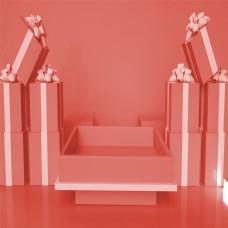 粉色系列礼物方盒背景图
