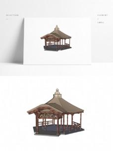 古建亭子SU模型