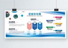 蓝色大气企业文化内容展板