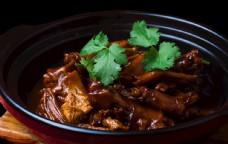 鹅掌豆干锅