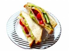 一盘三明治