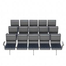 黑色成排简单座椅