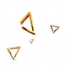 金色创意三角形几何元素