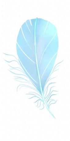 蓝色扇形羽毛
