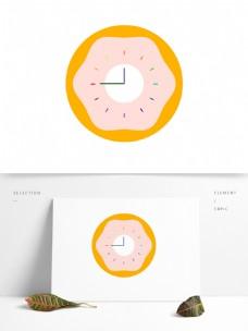 甜甜圈时钟矢量元素