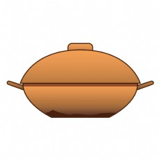 厨房厨具砂锅卡通