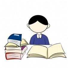 学生看书考试