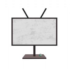 卡通黑色电视机