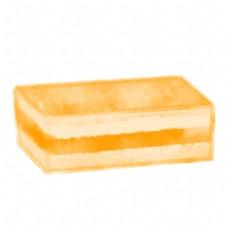 美食卡通蛋糕黄色