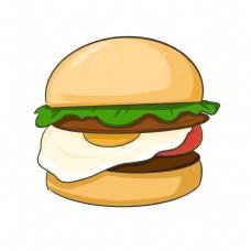 美味丰富汉堡装饰