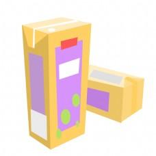 立体方盒果汁饮料