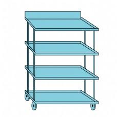 厨房储物架卡通蓝色