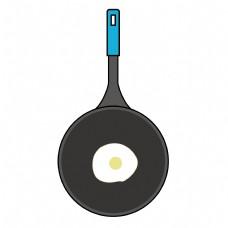 厨房厨具平底锅卡通