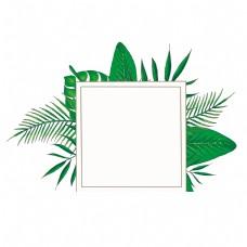 绿色叶子边框装饰