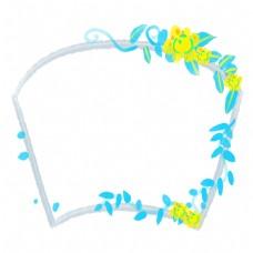 植物花朵扇形边框