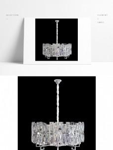 后现代水晶银色吊灯