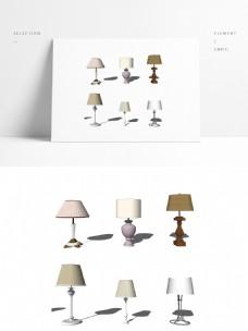 几个床头台灯模型
