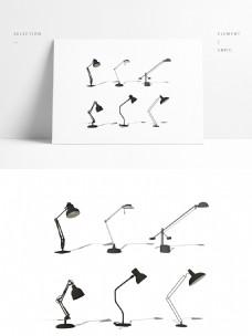 金属工作台灯模型