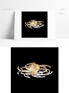 现代创意简约金色吊灯