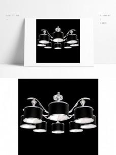 现代创银色意吊灯