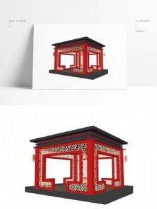 现代中式方厅SU模型